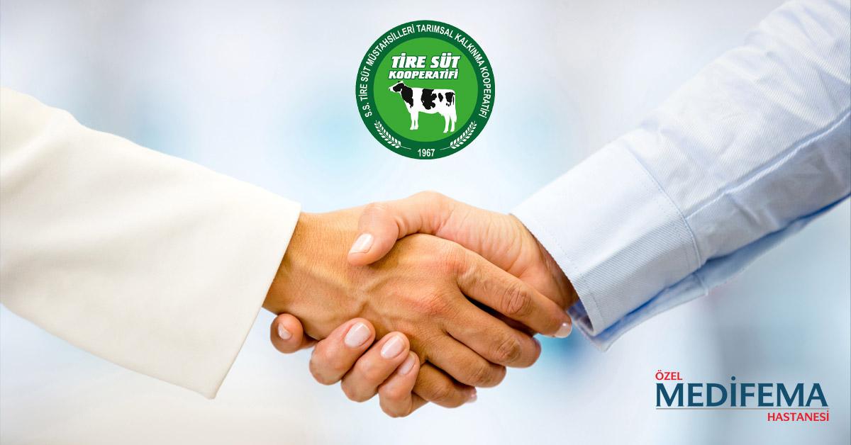 Medifema Hastanesi Tire Süt Kooperatifi ile Sağlık Protokolü İmzaladı